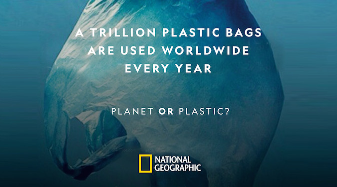 Shirts made from recycled plastic bottles – Nat Geo environmental campaign