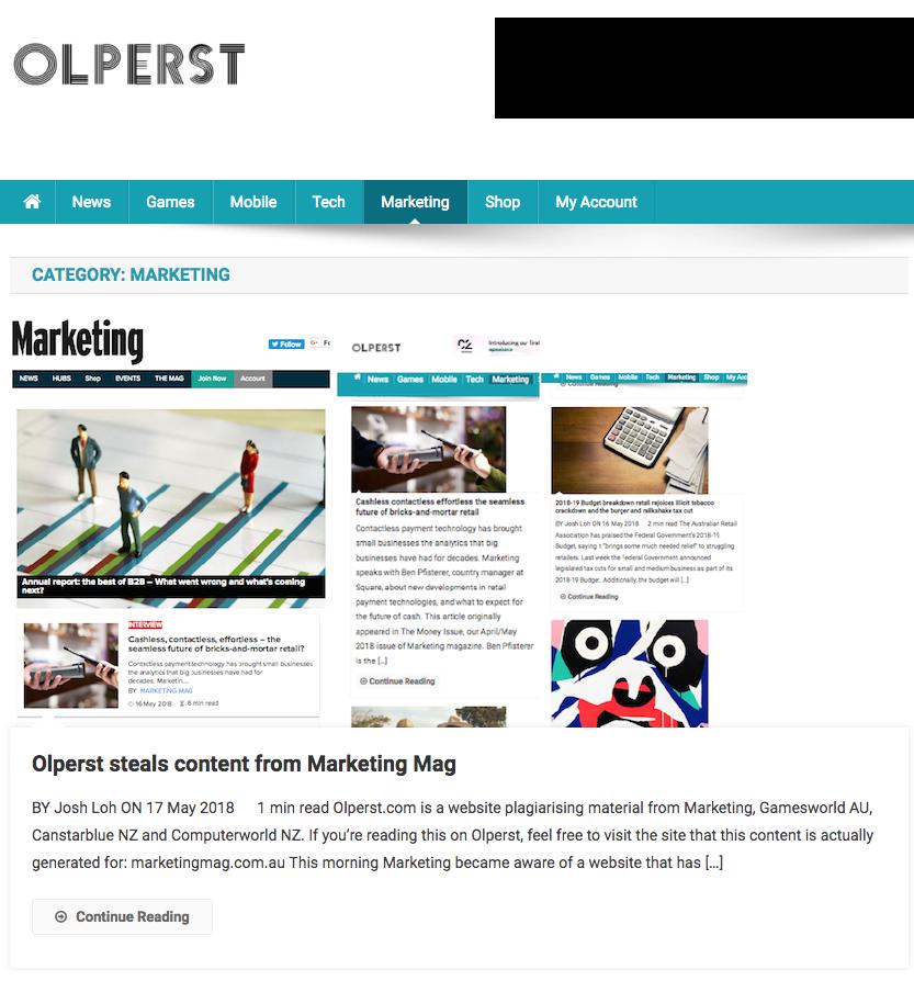 Olperst stealing content on Olperst