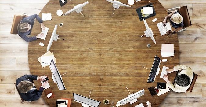 Collaboration circle desk Slack