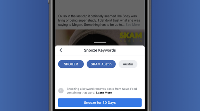 Spoilers begone – Facebook launches keyword snoozing to temporarily block unwanted posts