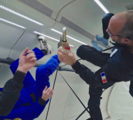 Houston, we have a… party? Mumm pops the cork on zero-gravity champagne