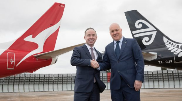 Qantas and Air New Zealand announce codeshare to commence the day after Virgin AU break up