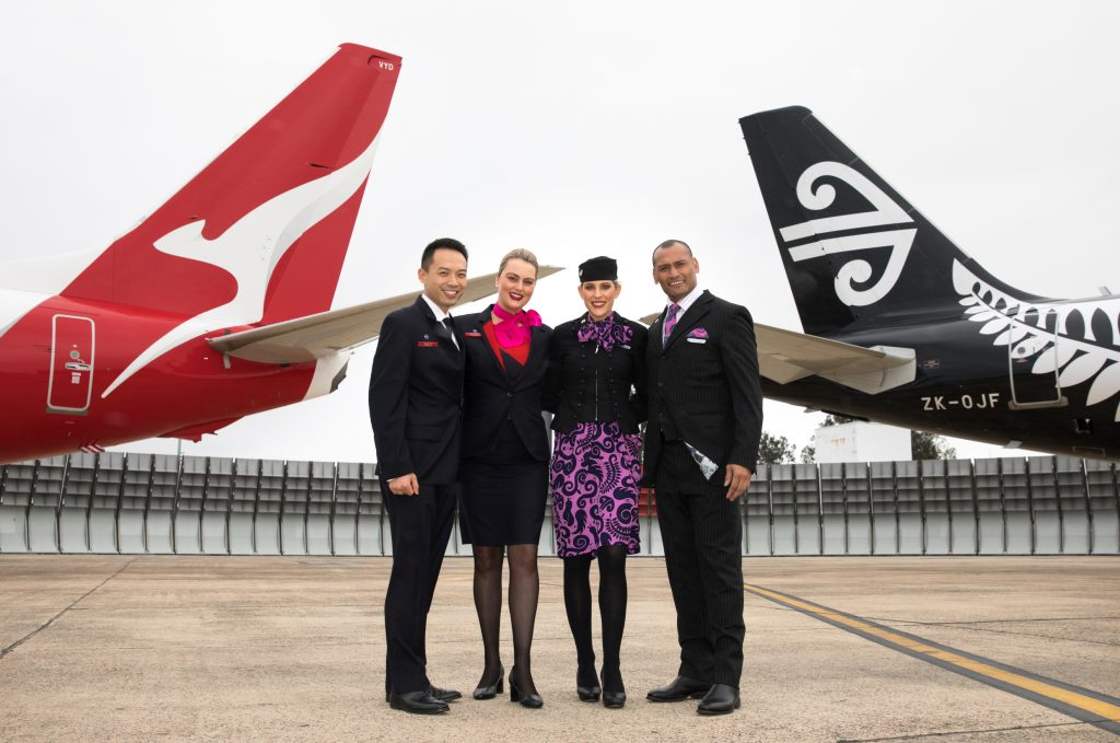 Qantas and Air NZ crew
