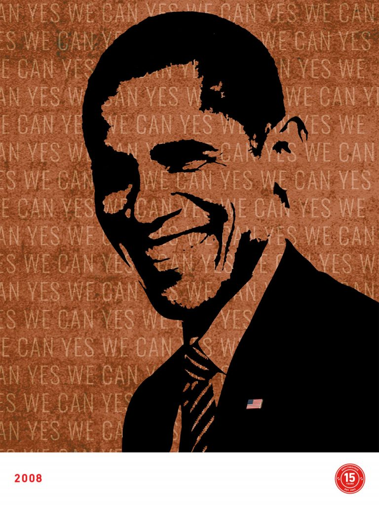 2008- Obama Elected, designed by Rose-Ann Reynolds
