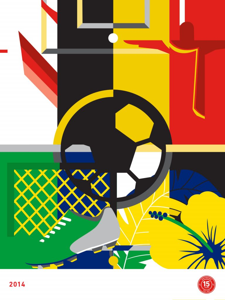 2014 – Germany win World Cup in Brazil designed by Rose Ann Reynolds
