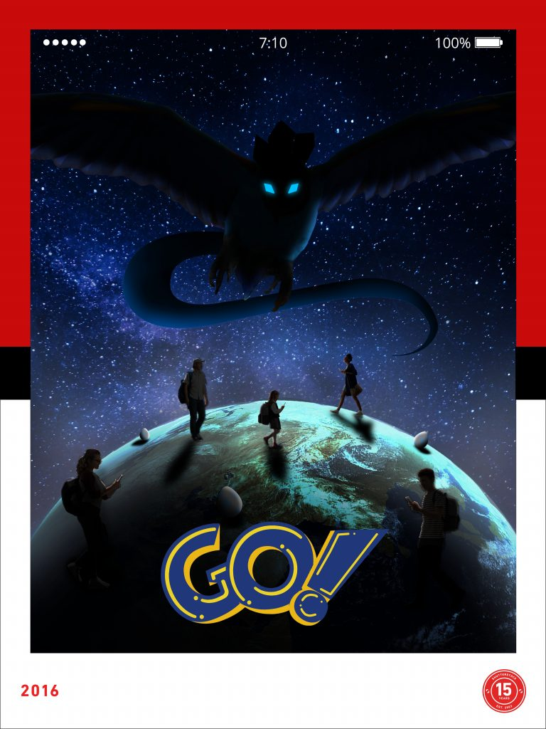 2016- Pokemon Go released, designed by Jackelyne Castillo