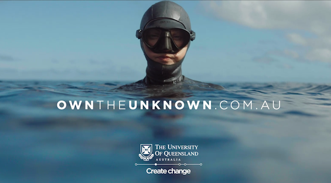 University of Queensland makes waves for new students in latest campaign