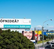 Koala Mattresses plants billboard in front of Ikea – 'NOFNIDEA?'