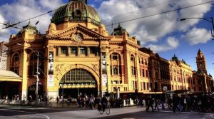 flinders street station in melbourne, australia
