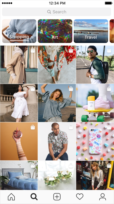 Instagram Shopping Explore Channel