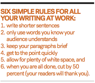 Six simple rules writing work BREAKOUT