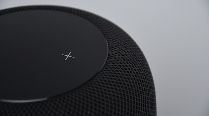 Apple Homepod closeup voice