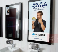 Digital out of home – bus shelters, billboards and… bathroom mirrors?
