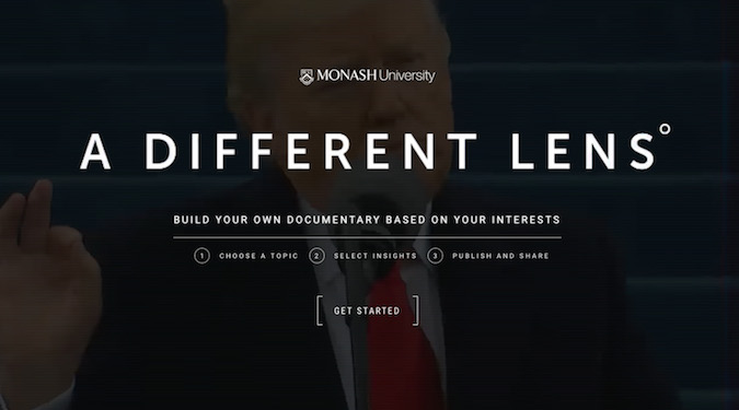 Monash University allows prospective students to 'Build Your Own Documentary'