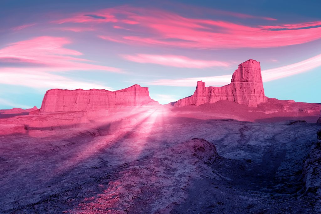 Shutterstock pink mountains