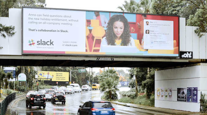 Slack takes over airports and offices for first Australian campaign