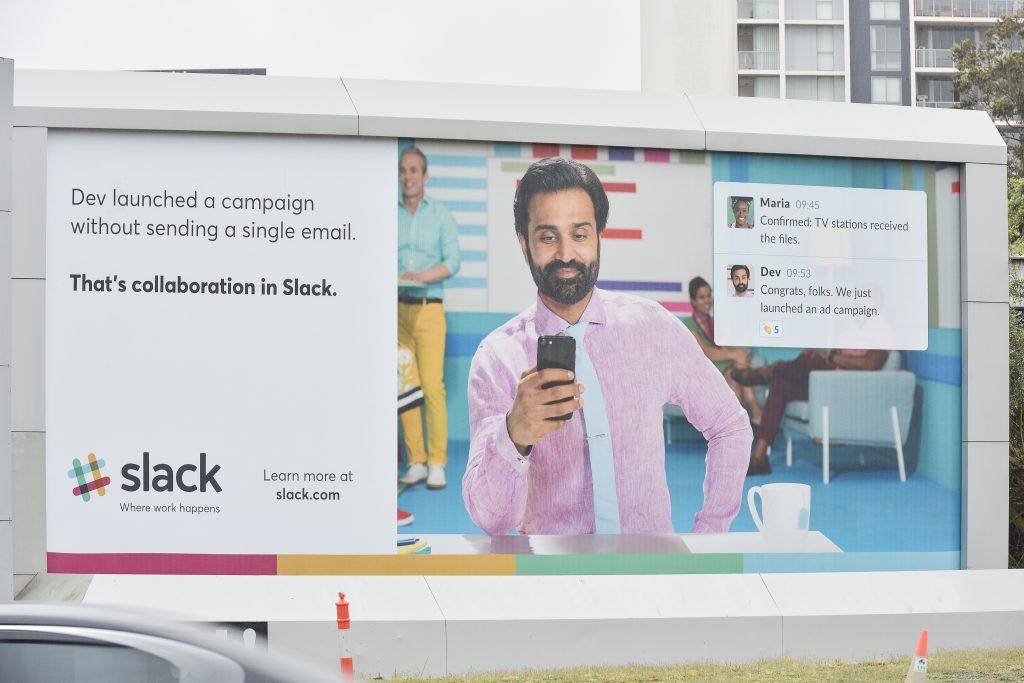 Slack OOH billboard
