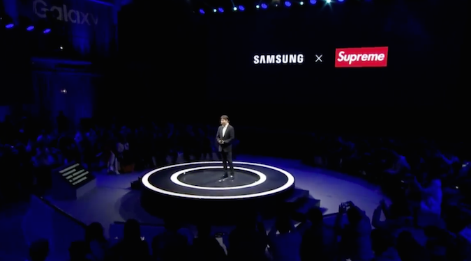Samsung partners with exclusive clothing brand Supreme… sort of
