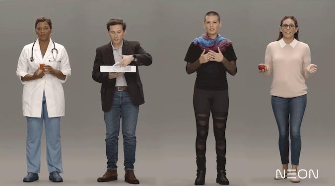 Samsung's Neon unveils bizarre 'artificial humans' at CES 2020