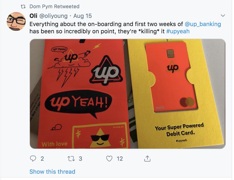 Up Bank social praise 2