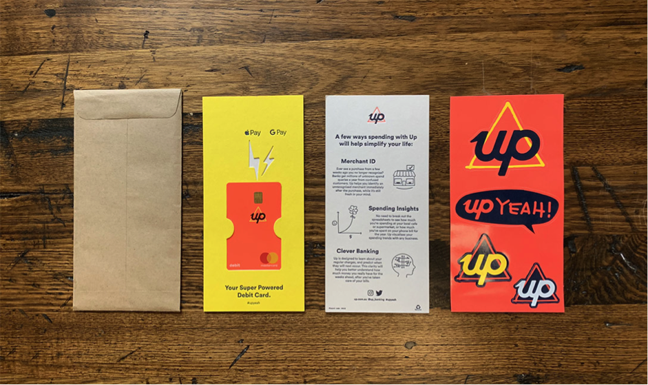 Up Bank Welcome Pack