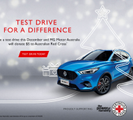 MG Motor Australia's test drive campaign for the Red Cross