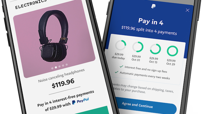 PayPal announces its buy now pay later offering