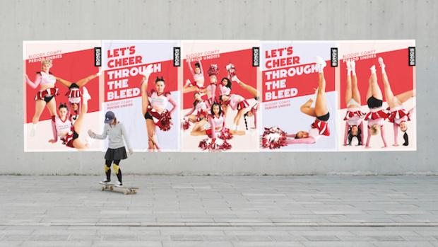 'Cheer Bleeders' promote period undies in new Bonds campaign
