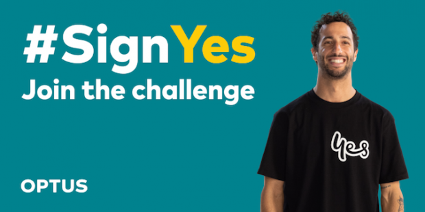 Optus launches a sign-language campaign on TikTok with #SignYes